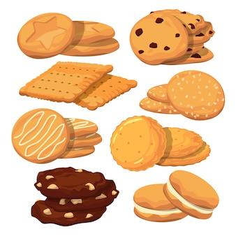 Diferentes ilustrações de sorvetes. padrão sem emenda de vetor. fundo de padrão de sorvete de chocolate e waffle