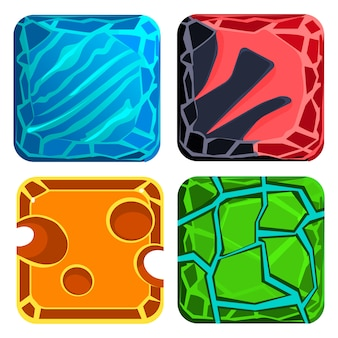 Diferentes materiais e texturas. conjunto de gemas