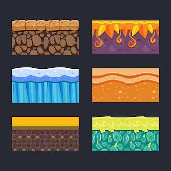 Diferentes materiais e texturas para o jogo