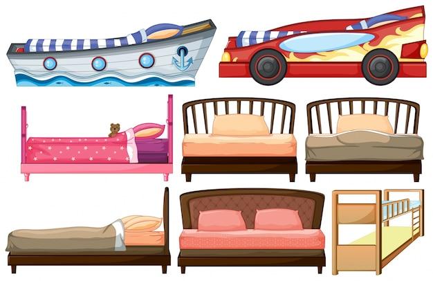 Diferentes modelos de cama