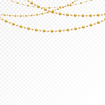 Diferentes modelos e formas de contas de ouro.