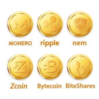 Diferentes projetos de bitcoins