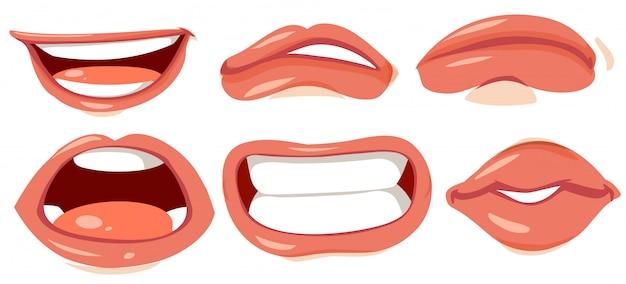 Diferentes s de lábios humanos