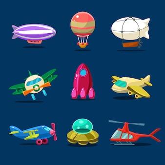 Diferentes tipos de aviões