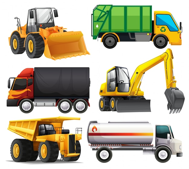 Diferentes tipos de caminhões