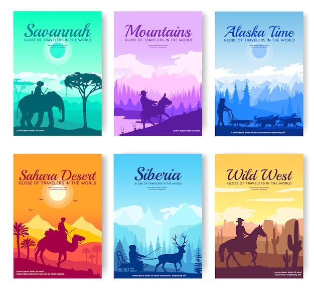 Diferentes tipos de cartas de natureza