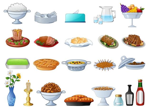 Diferentes tipos de comida tradicional
