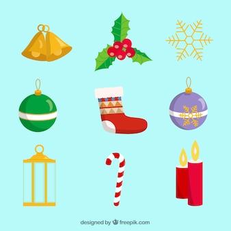Diferentes tipos de decoração do natal
