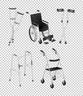 Diferentes tipos de equipamentos de handicap