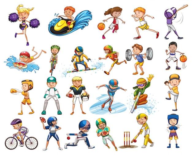Diferentes tipos de esportes