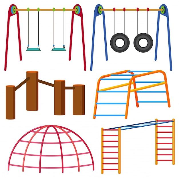 Diferentes tipos de swing e monkeybars
