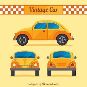 Diferentes vistas do carro antigo