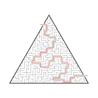 Difícil grande labirinto.