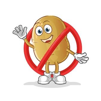 Diga não ao mascote da batata