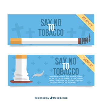 Diga não ao tabaco banners