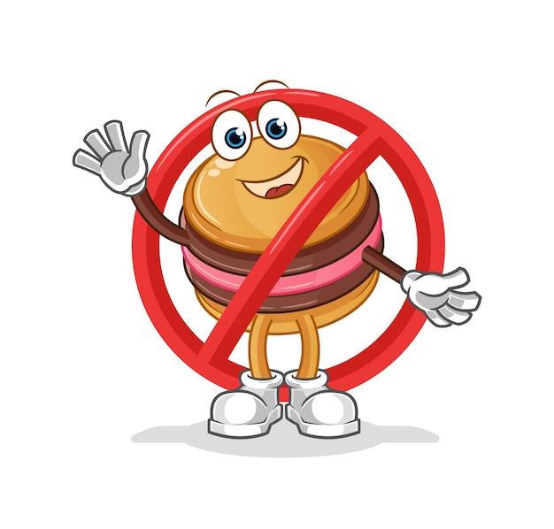 Diga não para o mascote do personagem macaroon