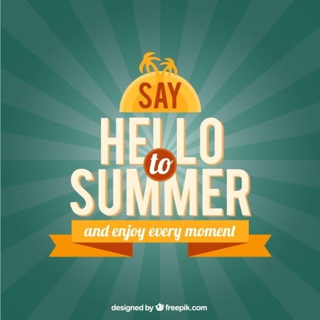 Diga olá para o verão