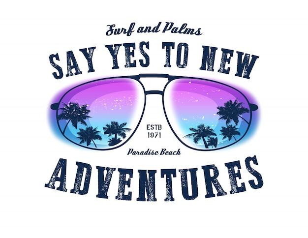 Diga sim para novas aventuras. de fundo vector