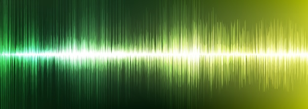 Digital sound wave luz verde