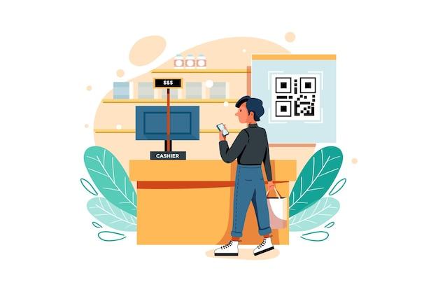 Digitalize o código e faça ilustração de pagamento