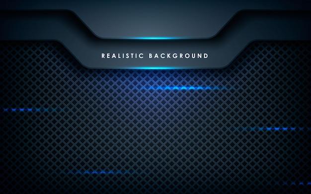 Dimensão abstrata azul em preto