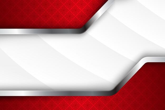 Dimensão abstrata da sobreposição do fundo com branco do inclinação às cores cinzentas e vermelhas. padrão de quadrados transparentes na parte superior e inferior.