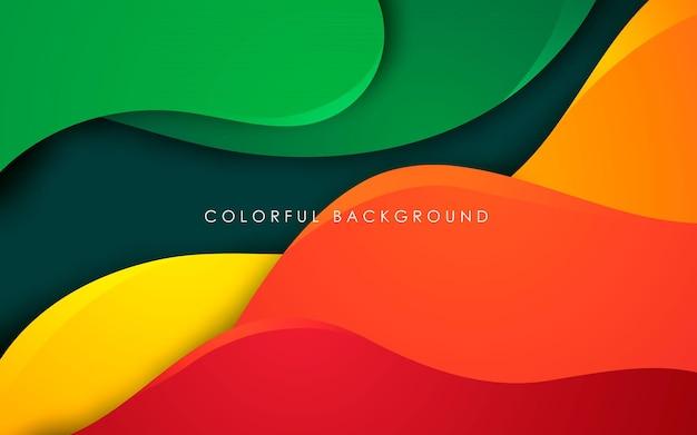 Dimensão colorida de fundo fluido abstrato