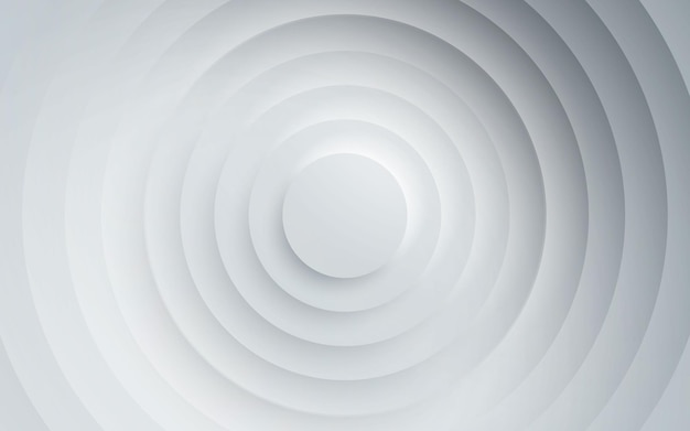 Dimensão das camadas do círculo do fundo branco abstrato
