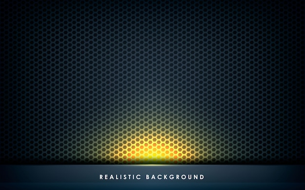 Dimensão de camada abstrata cinza com luz dourada