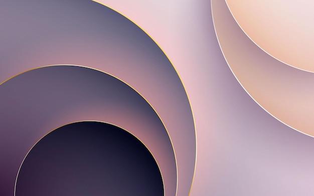 Dimensão do círculo do fundo abstrato do corte de papel em gradiente