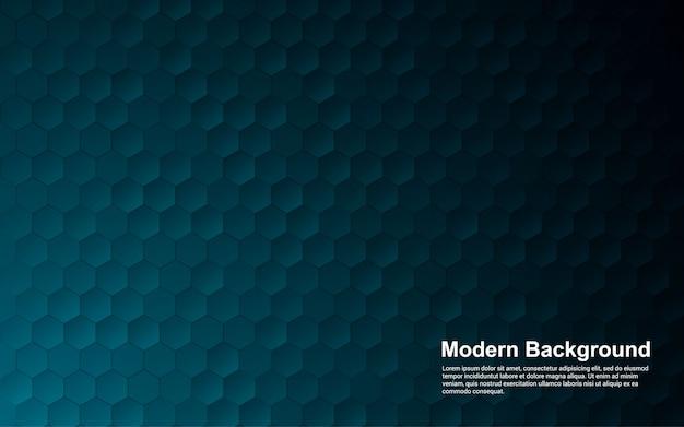 Dimensão moderna do hexágono abstrato