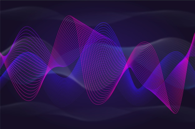 Dinâmica violeta e azul de fundo ondulado