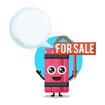Dinamite à venda mascote de personagem fofo