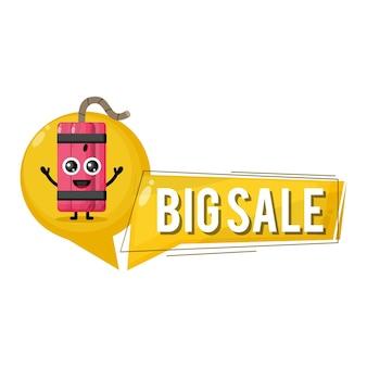 Dinamite grande venda mascote personagem fofo