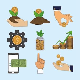 Dinheiro de investimento financeiro