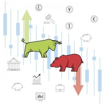 Dinheiro de negócios e investimentos
