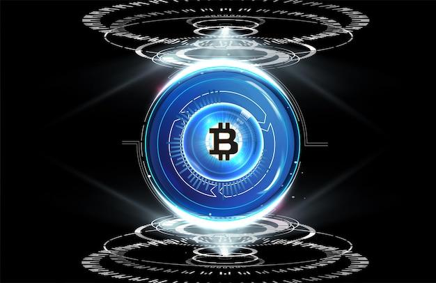 Dinheiro digital, conceito de rede mundial de tecnologia, dinheiro digital de ilustração,