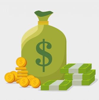 Dinheiro do banco e investimento