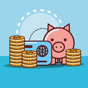 Dinheiro do banco piggy
