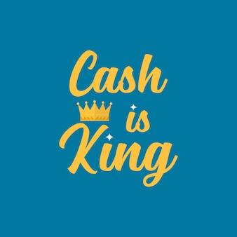 Dinheiro é o rei da tipografia