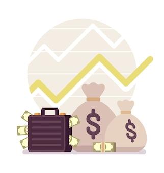 Dinheiro e um gráfico positivo