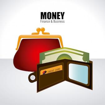 Dinheiro sobre branco