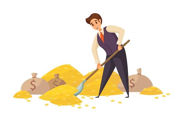 Dinheiro, sucesso, capital, lucro, riqueza, conceito do negócio.