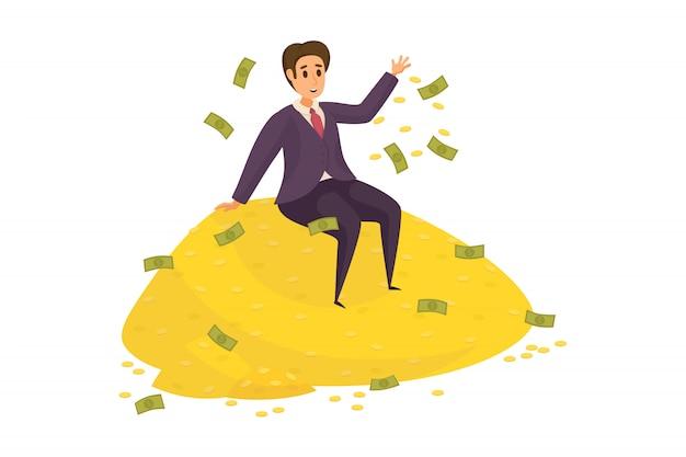 Dinheiro, sucesso, lucro, riqueza, conceito do negócio.