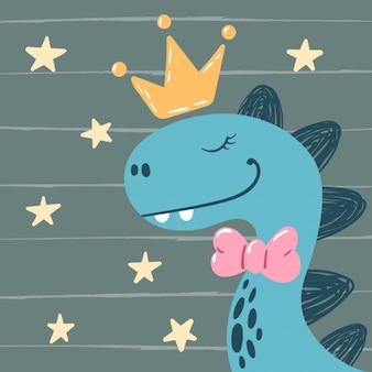 Dino, princesinha - personagens fofinhos.