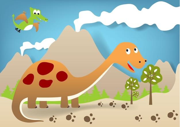 Dino world cartoon