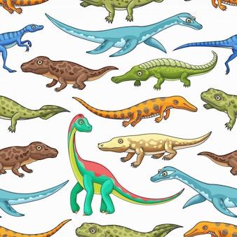 Dinossauro animais sem costura de fundo