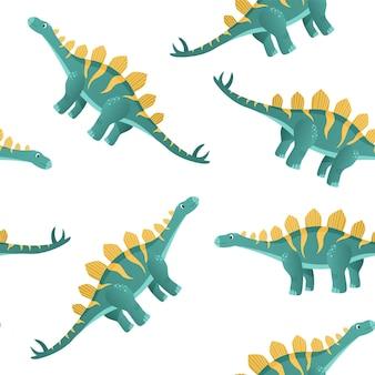Dinossauro colorido em estilo cartoon