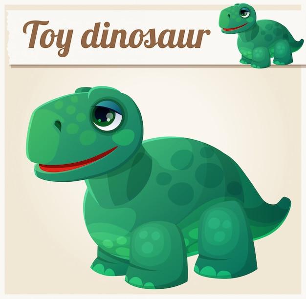 Dinossauro de brinquedo. ilustração em vetor dos desenhos animados