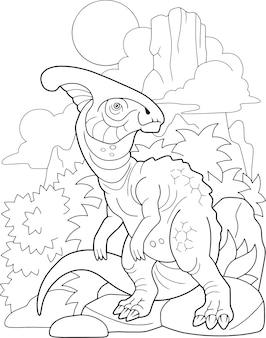 Dinossauro de desenho animado